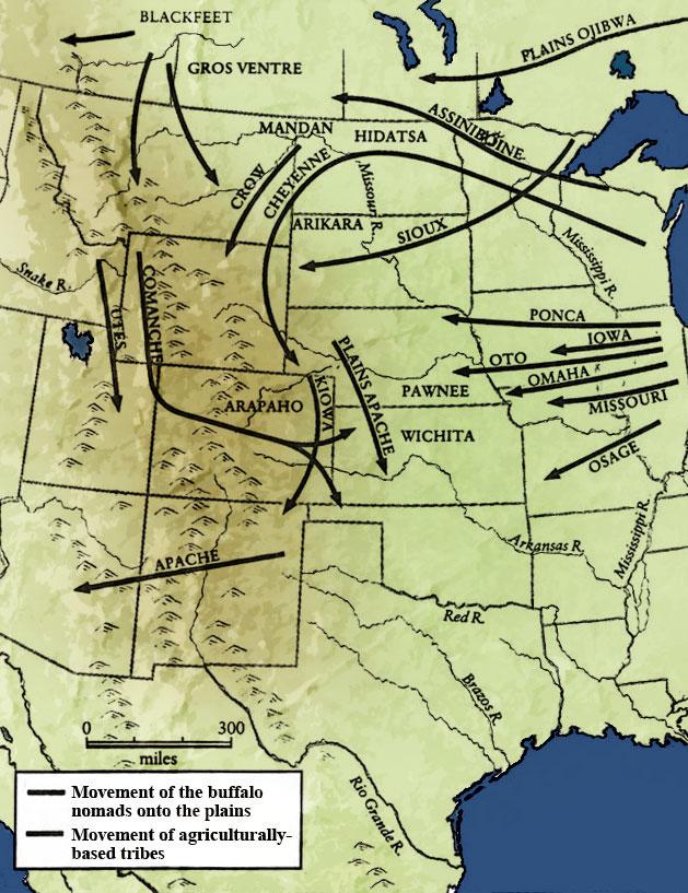 Nomadic Tribal Movment in North America