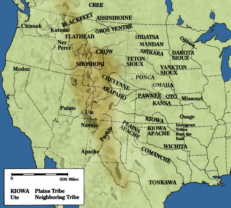 Tribes on the plains in North America