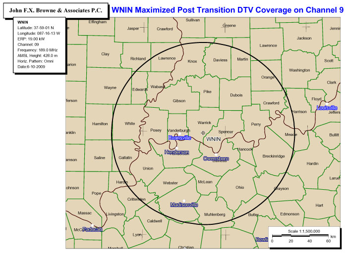WNIN Coverage Map
